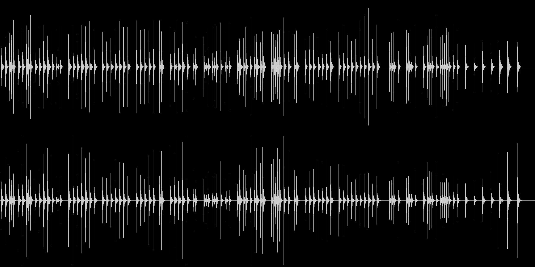 少しとぼけてほのぼの木琴でかわいい映像にの未再生の波形