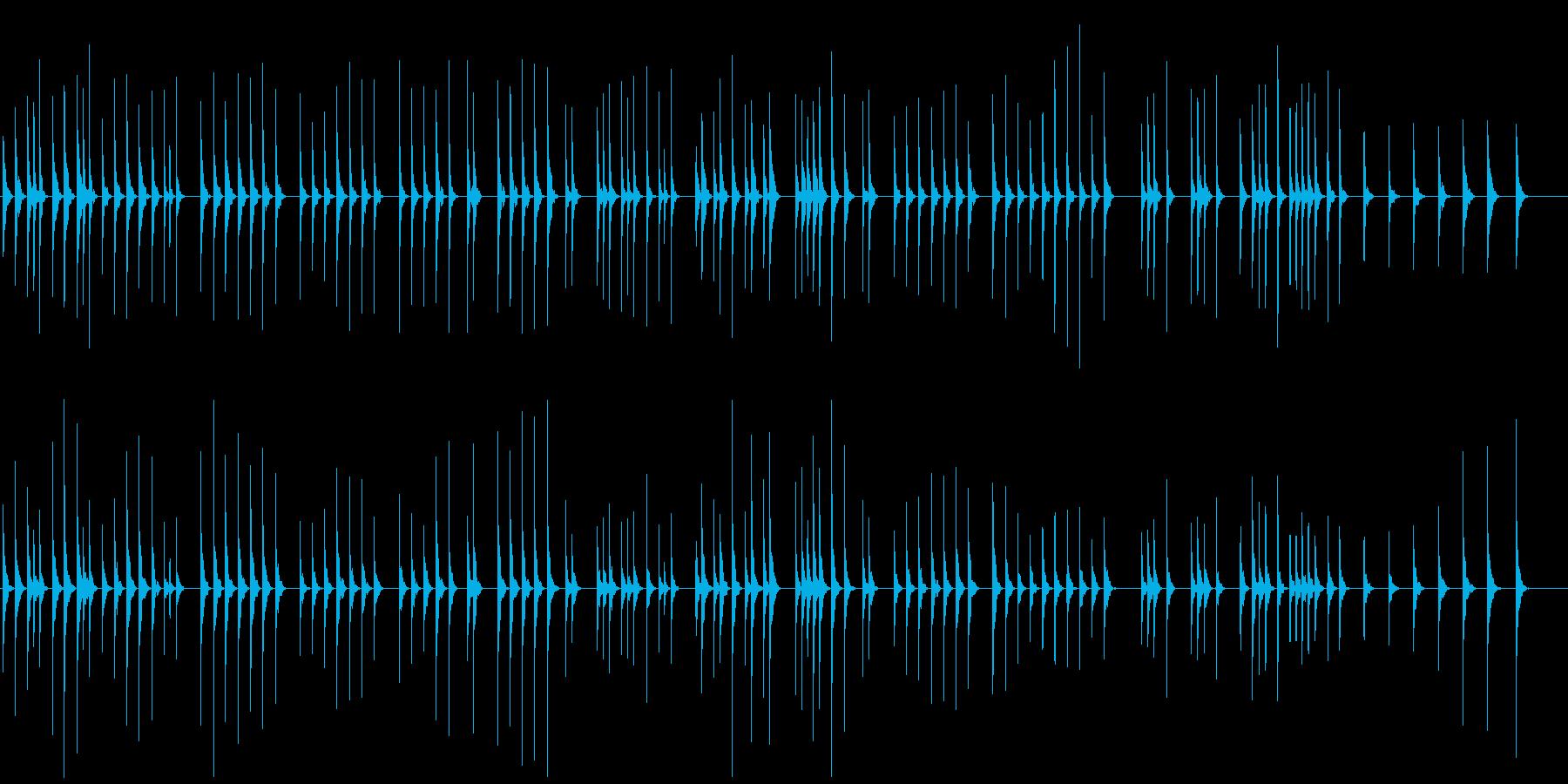 少しとぼけてほのぼの木琴でかわいい映像にの再生済みの波形