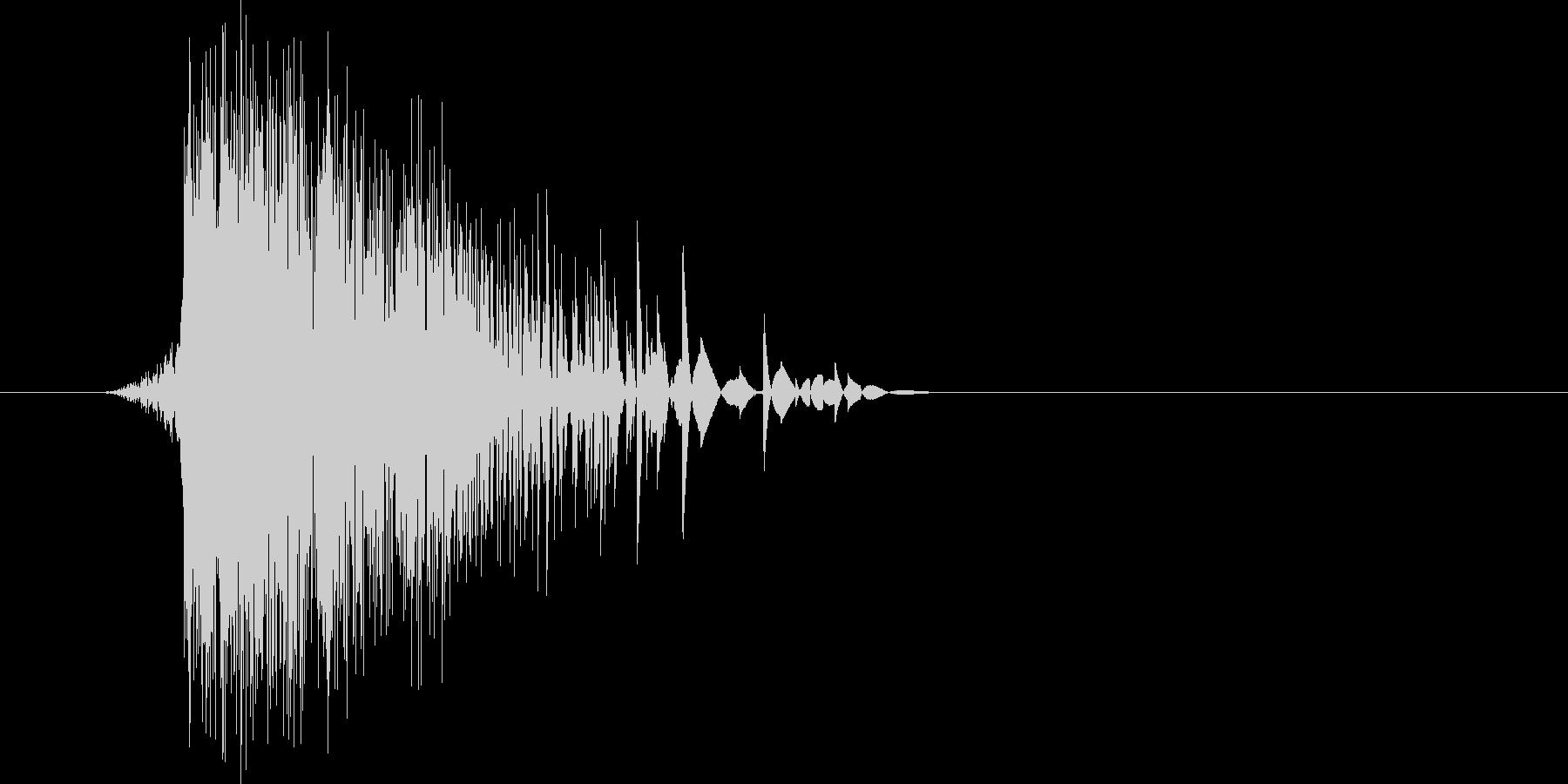 ゲーム(ファミコン風)ヒット音_025の未再生の波形
