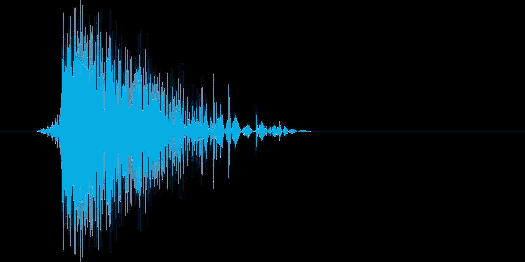 ゲーム(ファミコン風)ヒット音_025の再生済みの波形