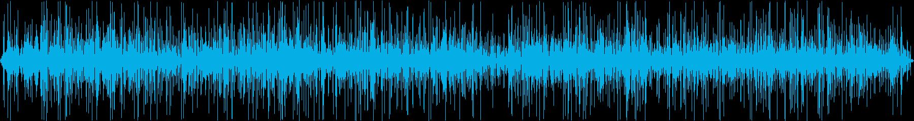 雨音(ビニール傘)の再生済みの波形