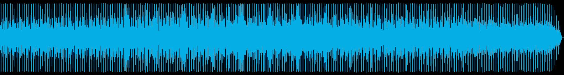 ミドルテンポなテクノの再生済みの波形