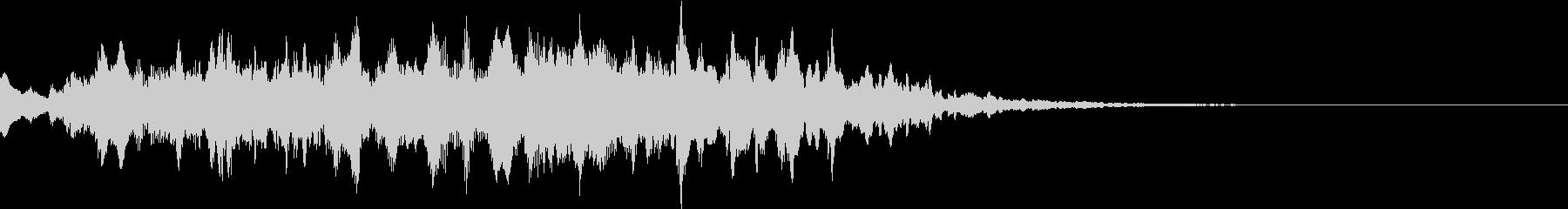 サウンドロゴ・起動時の効果音(不思議)の未再生の波形