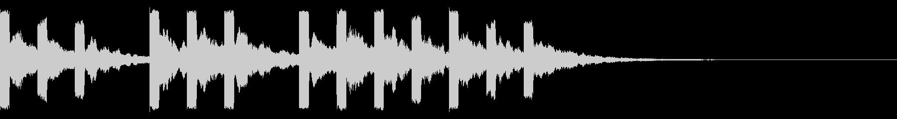 始まりの際の音の未再生の波形