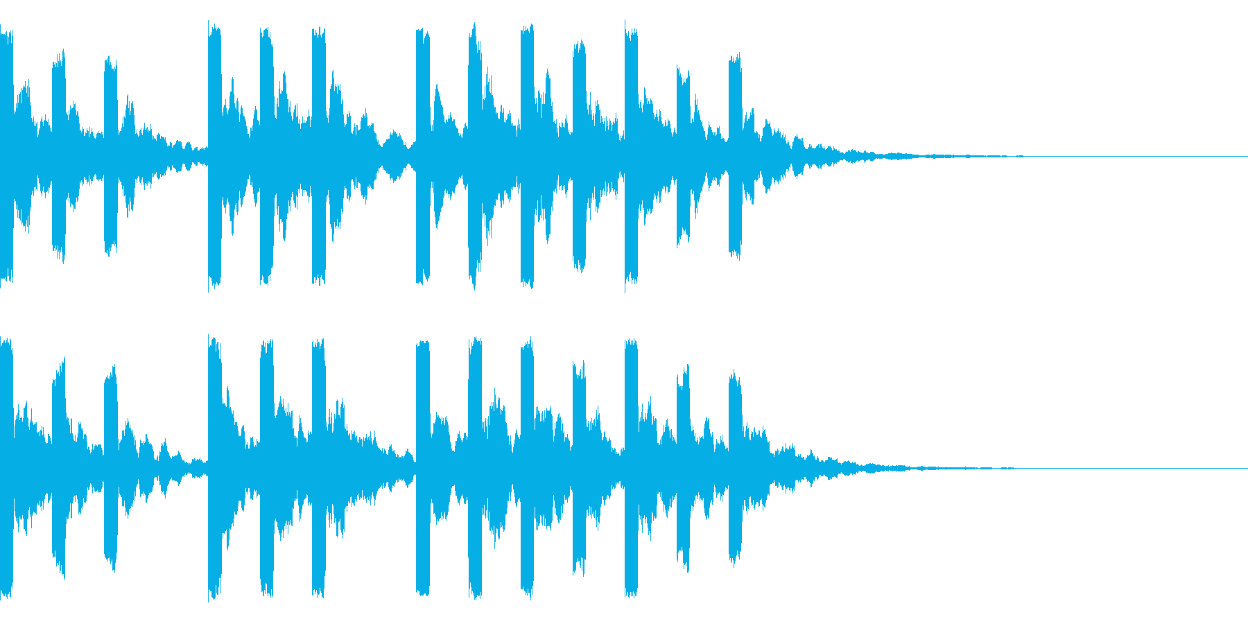始まりの際の音の再生済みの波形