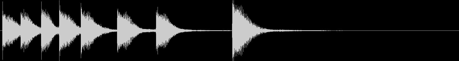 ピアノジングル 幼児向けアニメ系F-03の未再生の波形