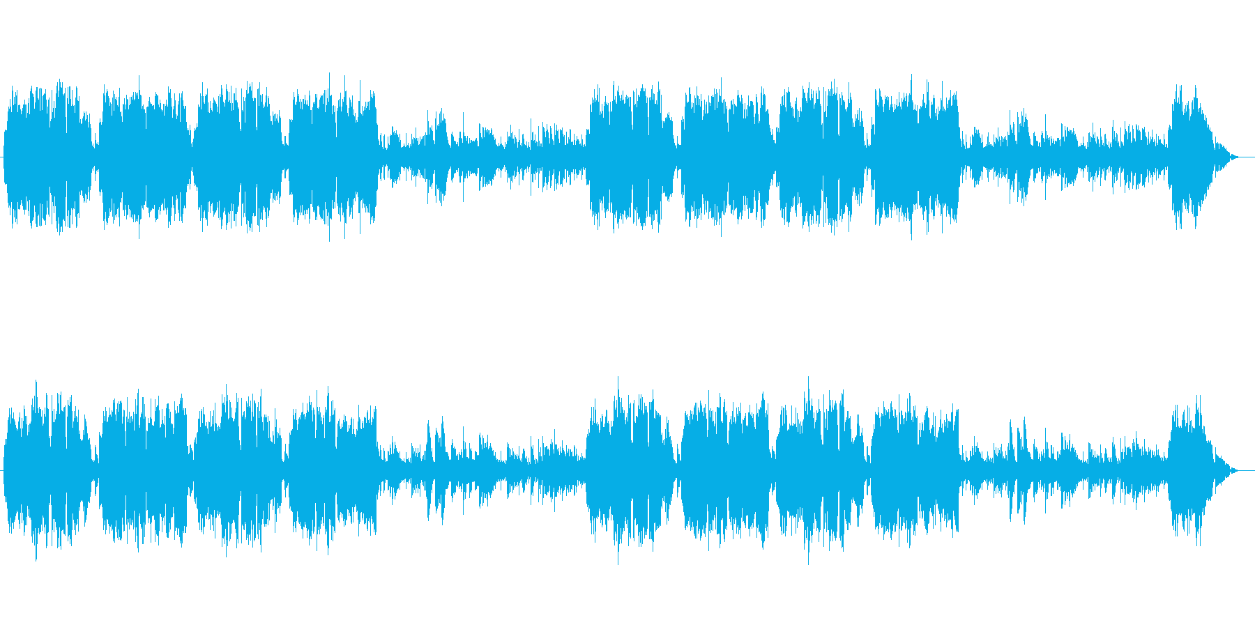 温かくのどかで優しいアイリッシュ風牧歌の再生済みの波形