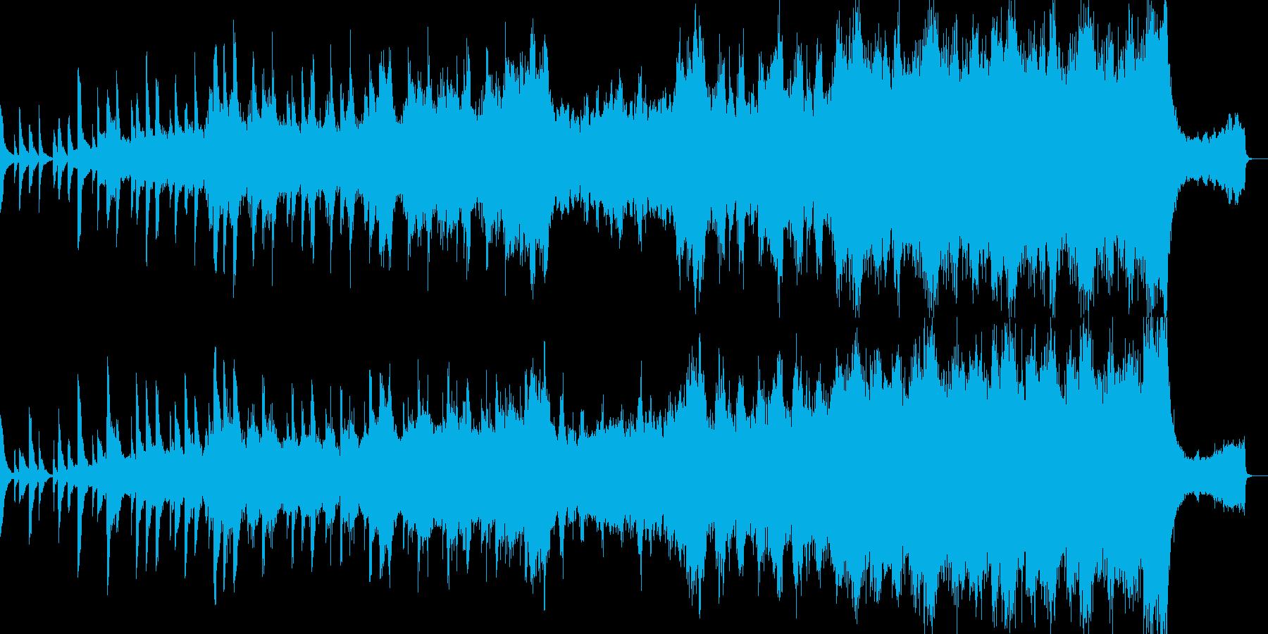 シリアスなストリングスBGMの再生済みの波形