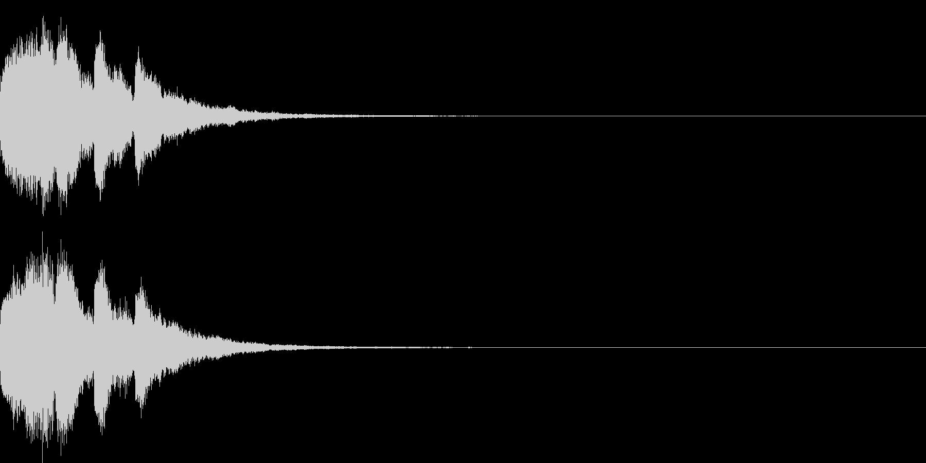 アナウンス 案内 実験 チャイム 07の未再生の波形