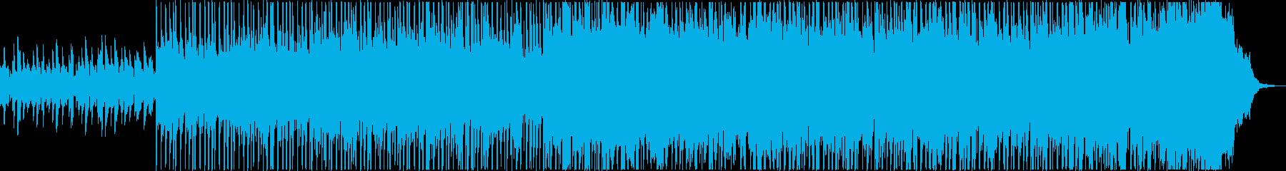 洋楽で暖かい曲の再生済みの波形