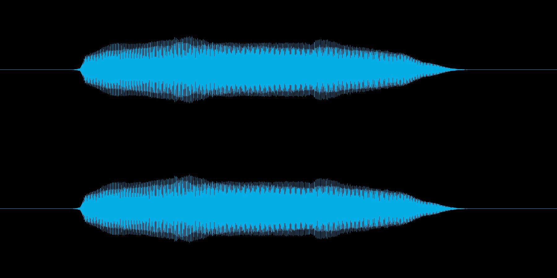 むにゅの再生済みの波形