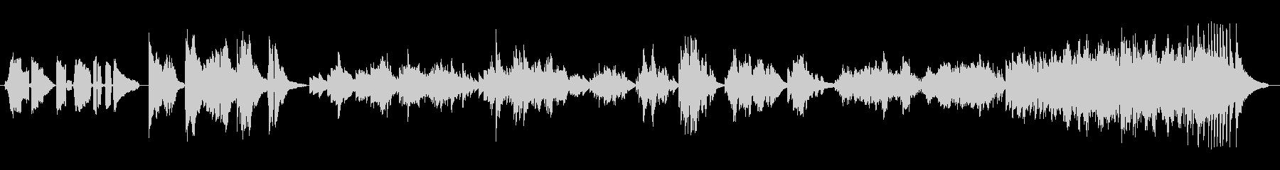 粋なスパニッシュピアノの未再生の波形