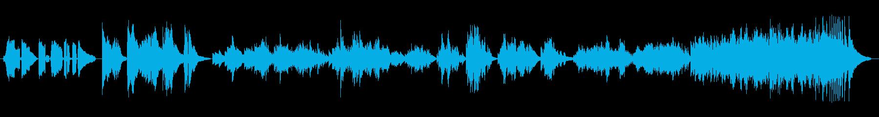 粋なスパニッシュピアノの再生済みの波形