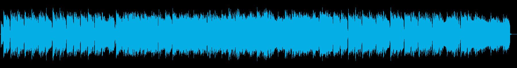 和のメロディ琴と尺八のアンビエントハウスの再生済みの波形