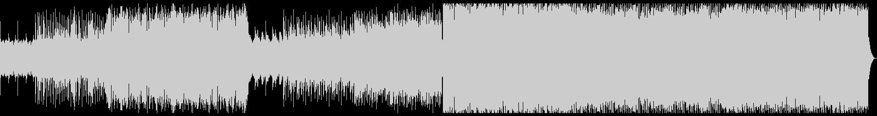 エレクトロ+バンドサウンドの激しめの曲の未再生の波形