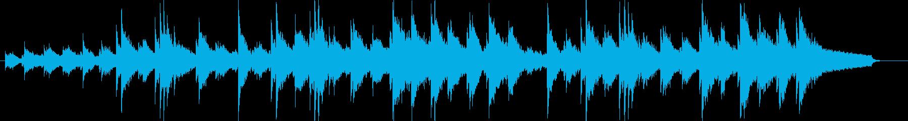 力強いピアノサウンドの再生済みの波形