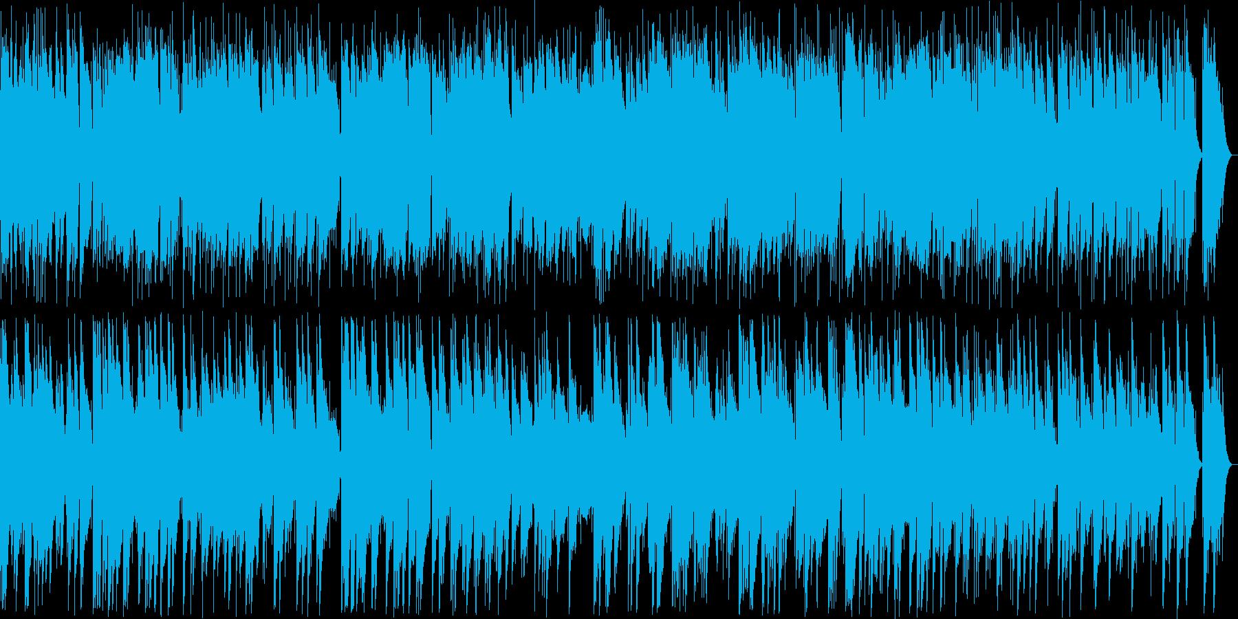 優しい気持ちになれるようなBGMの再生済みの波形