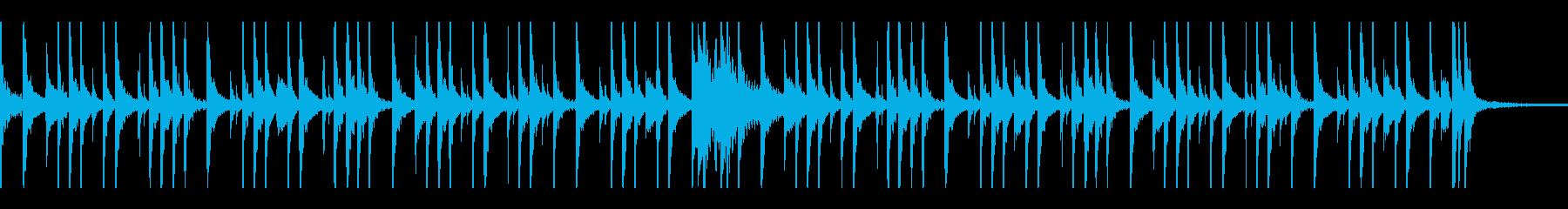軽快なドラムソロの再生済みの波形