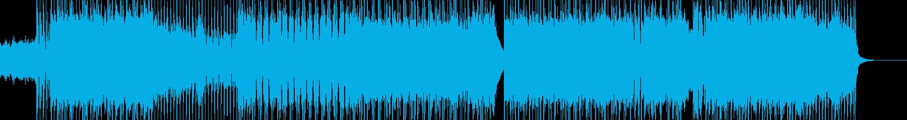 ショート アップテンポでお洒落なロックの再生済みの波形