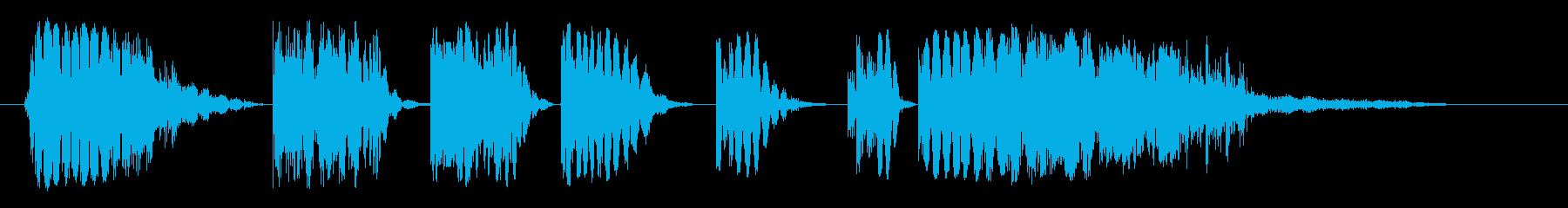 スタッターアクセント1の再生済みの波形