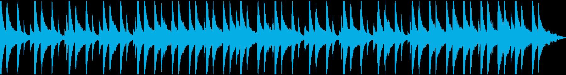 ピアノと環境音のチル (ループ)の再生済みの波形