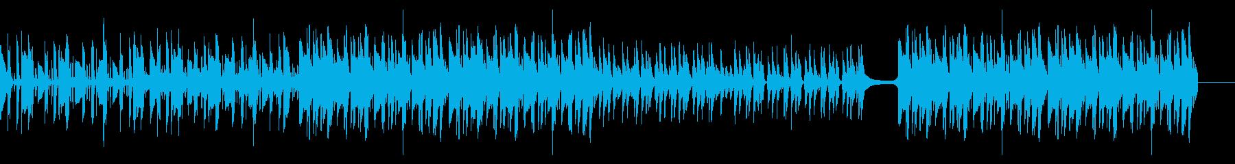 ほのぼのリズミカルなアコギ劇伴の再生済みの波形
