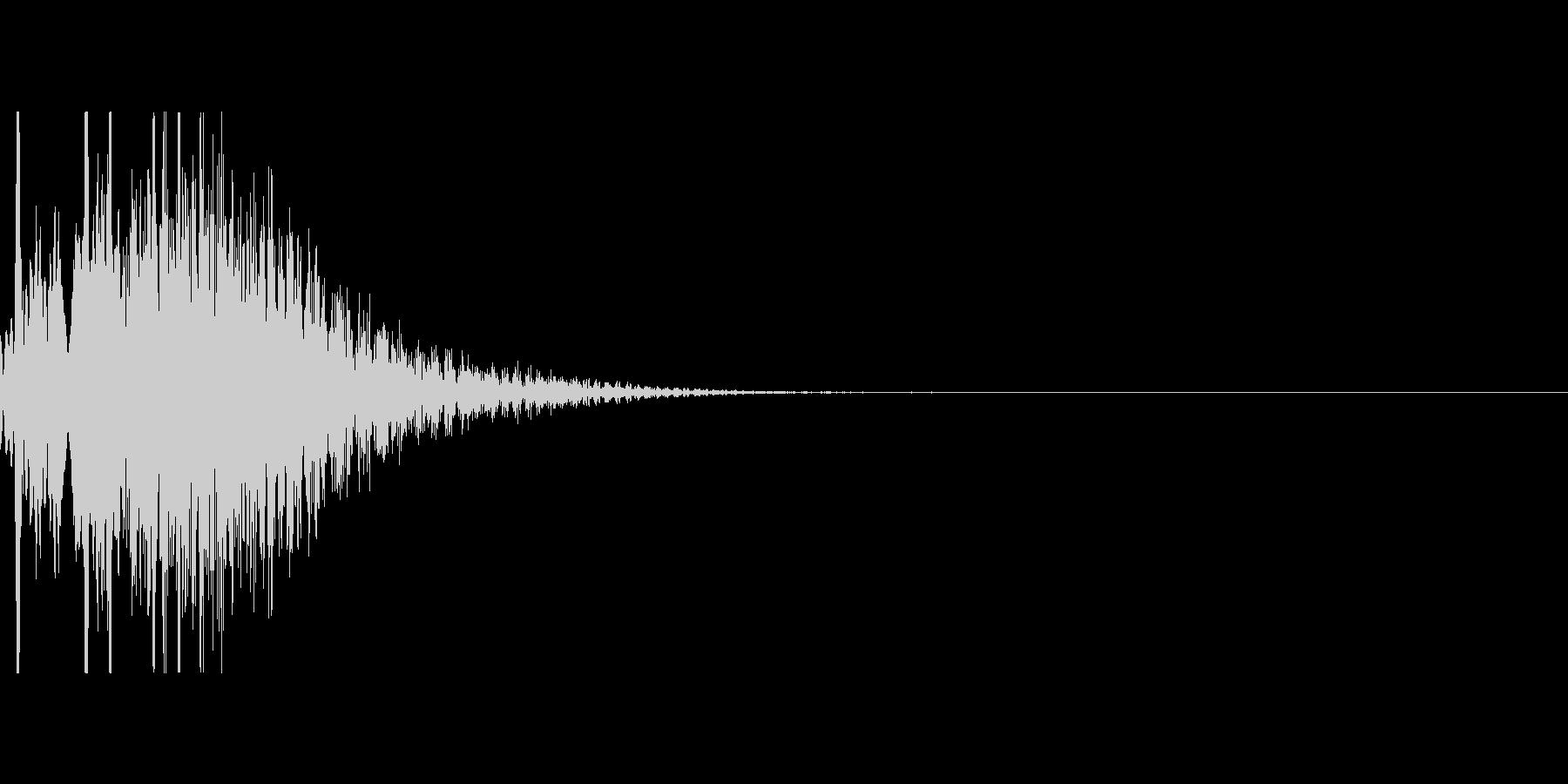 キラキラUI音の未再生の波形