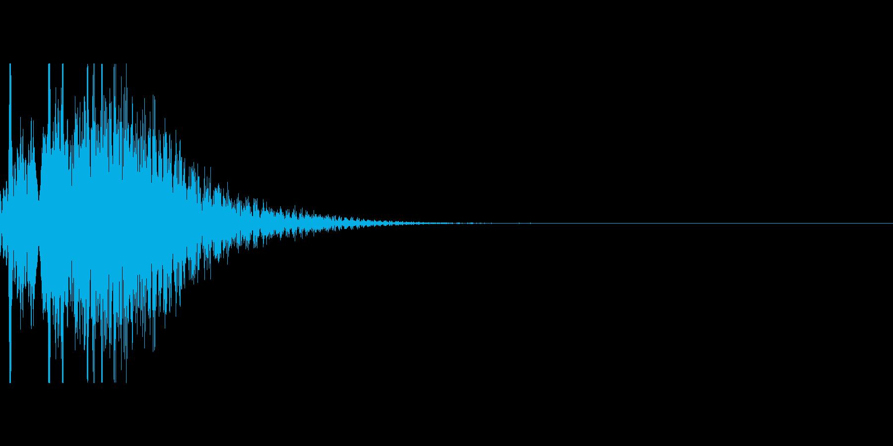 キラキラUI音の再生済みの波形