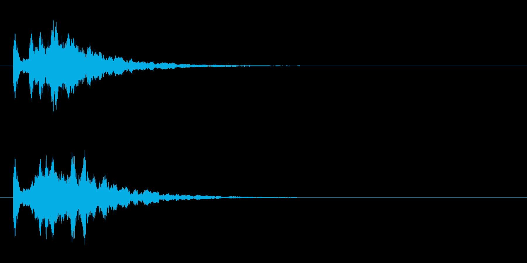 正解通知の再生済みの波形