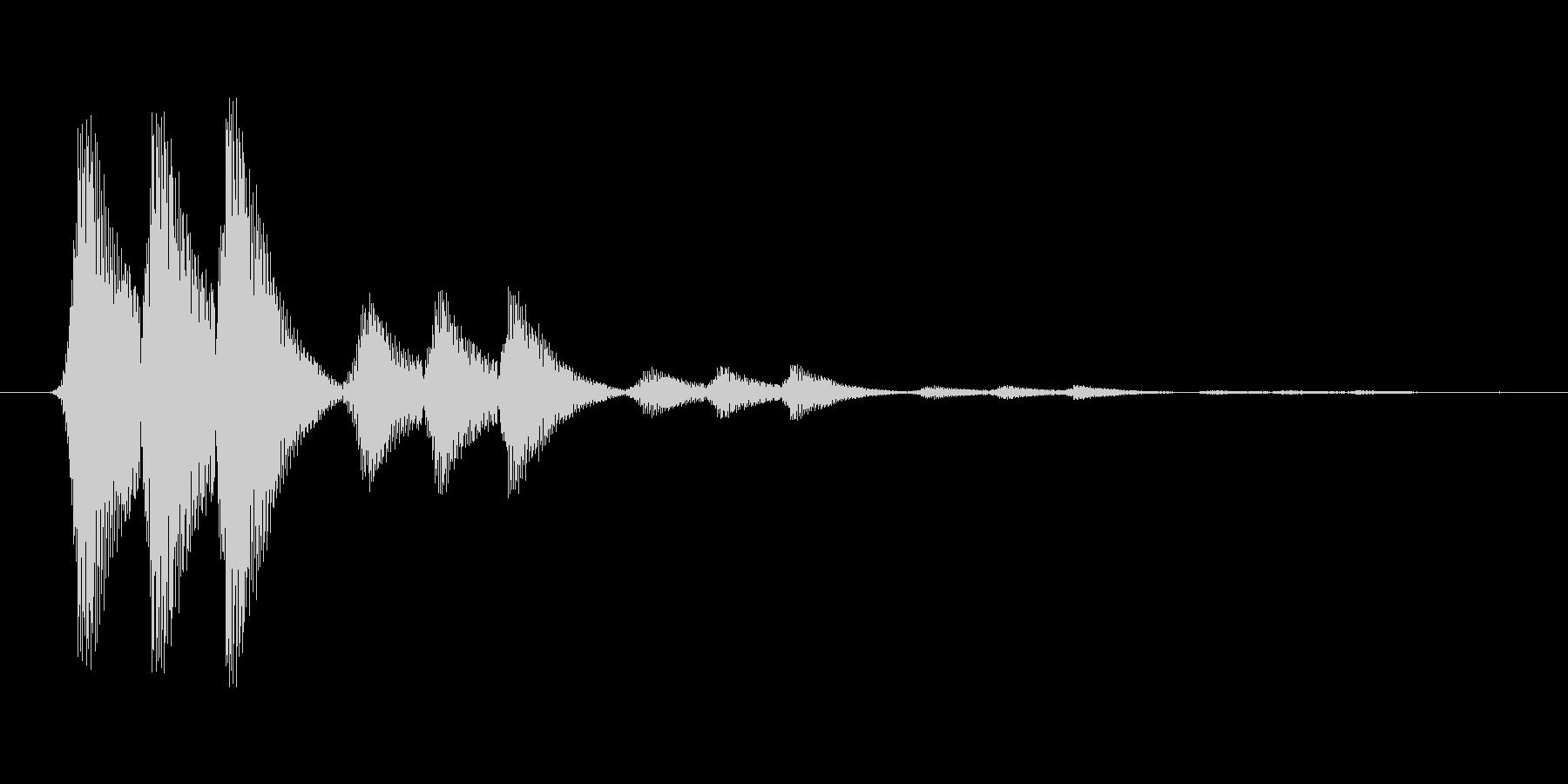 ファミコン風効果音 決定音系です 23の未再生の波形