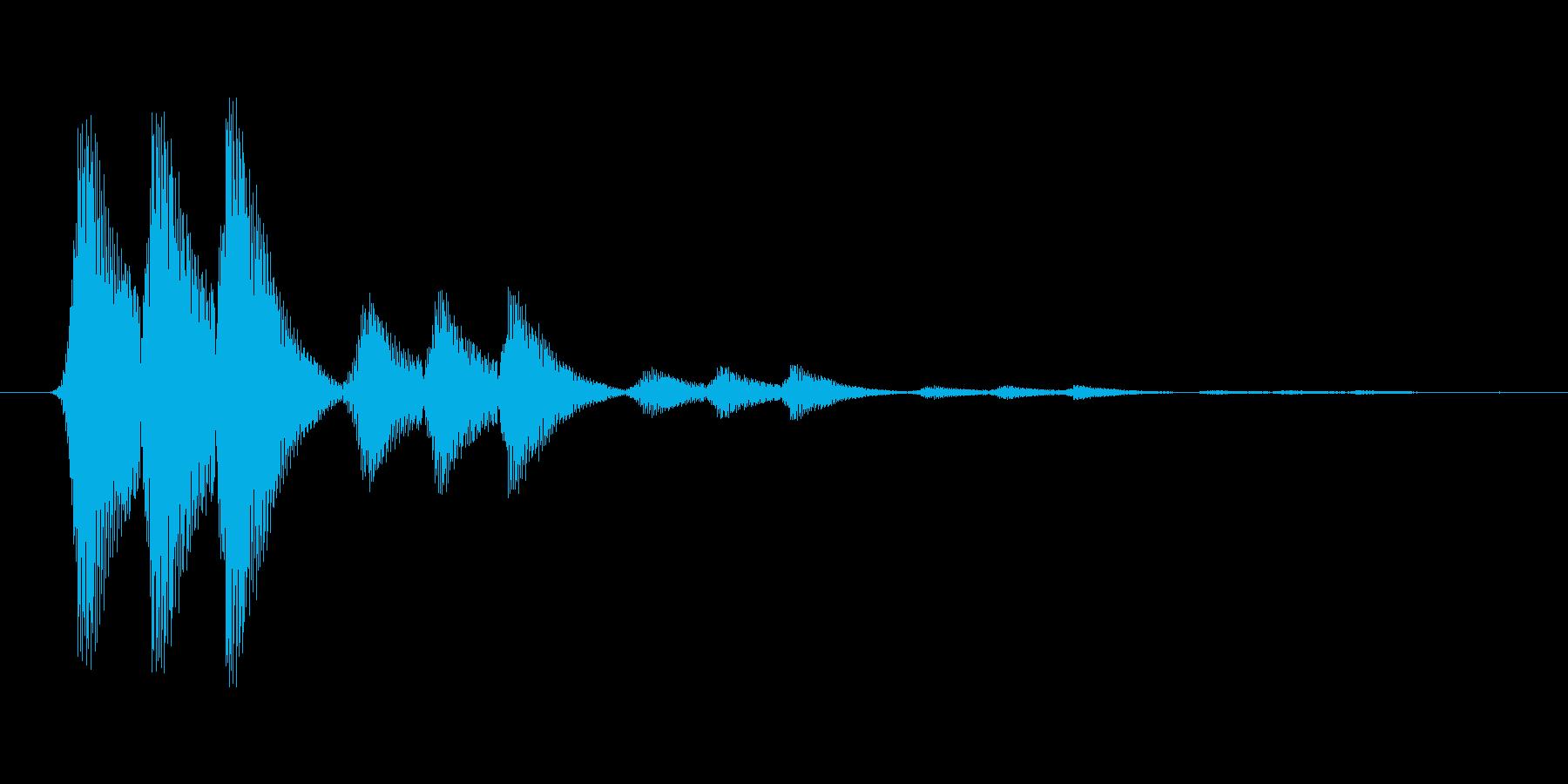 ファミコン風効果音 決定音系です 23の再生済みの波形