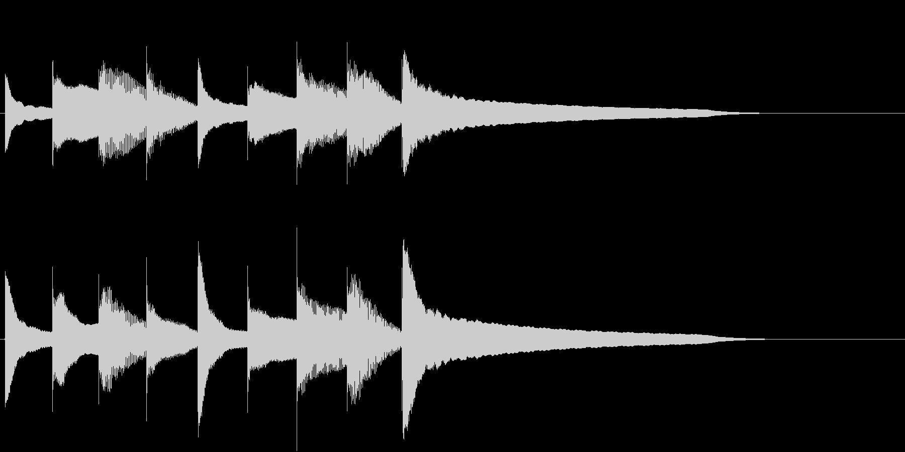 宿屋への宿泊の時に流れる音のイメージの未再生の波形