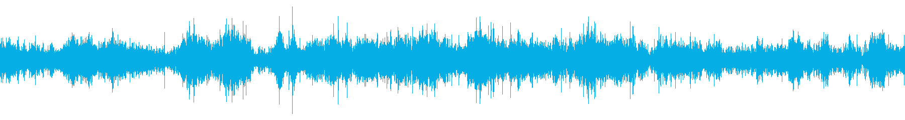 激しい雨の日の車内の音の再生済みの波形
