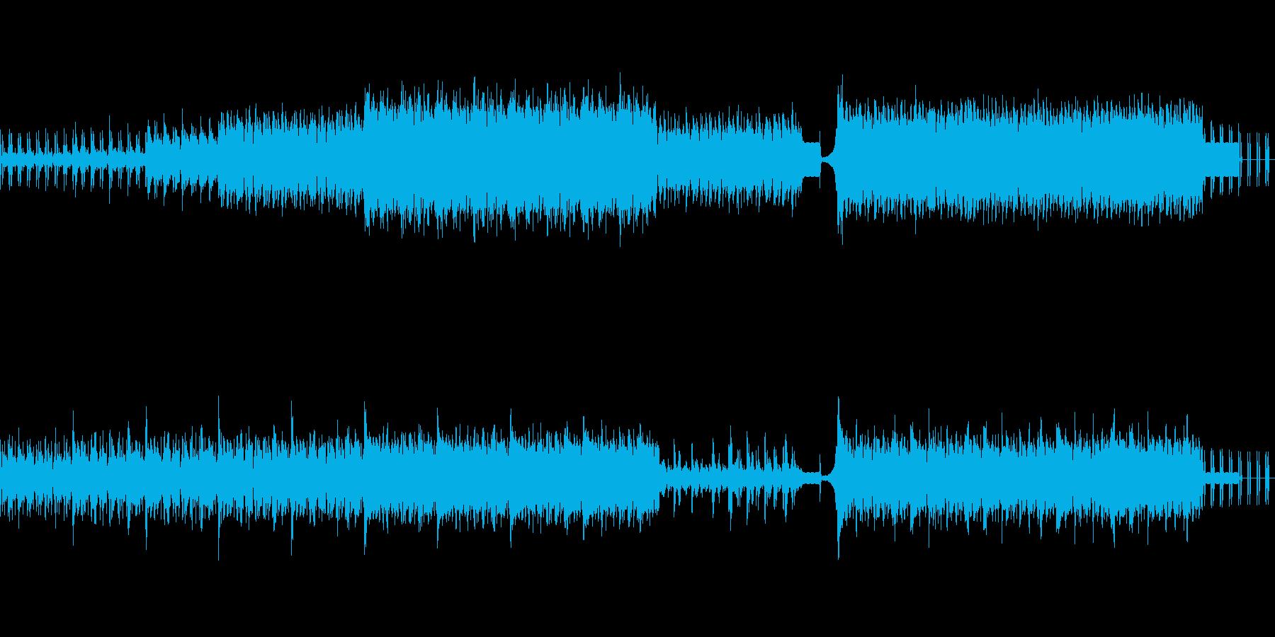 焦燥感を煽る緊張したマリンバのリズムの再生済みの波形
