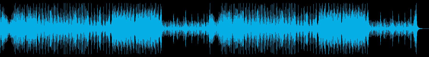テンポの速い和太鼓アンサンブルの再生済みの波形