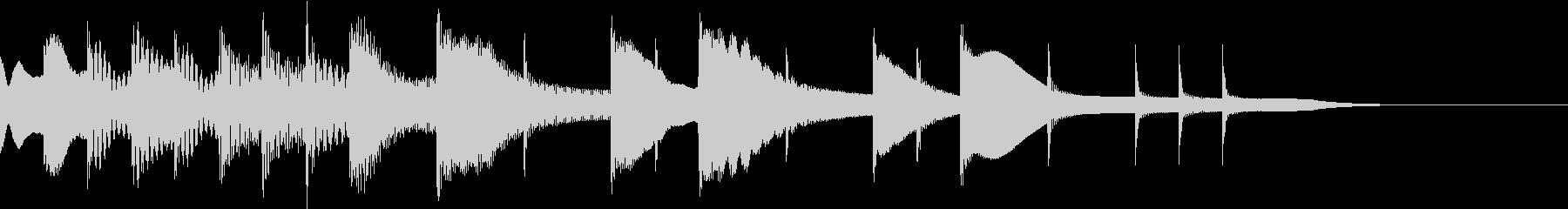 ビブラフォン奏者のためのジングルの未再生の波形
