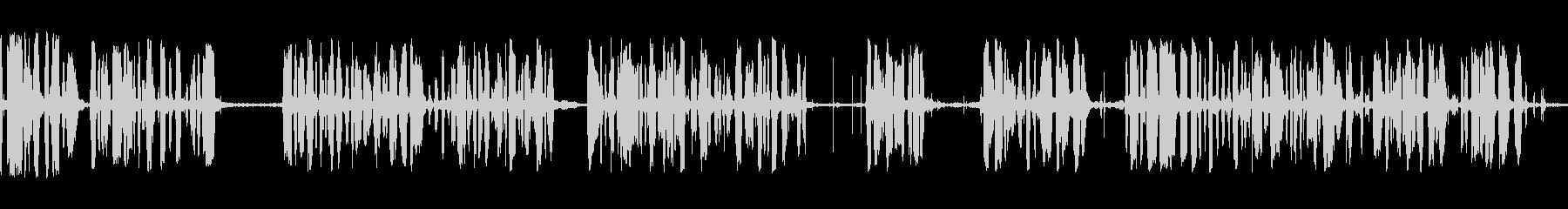 アナウンサーカーレースメガホンbの未再生の波形