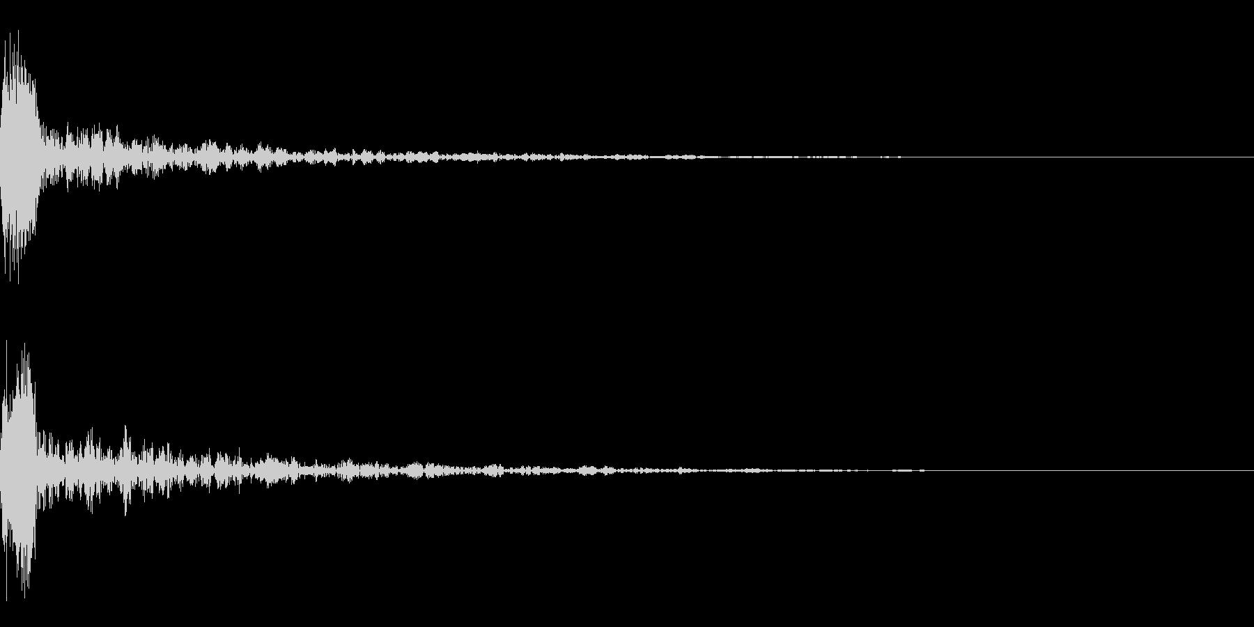 ドーン-17-1(インパクト音)の未再生の波形