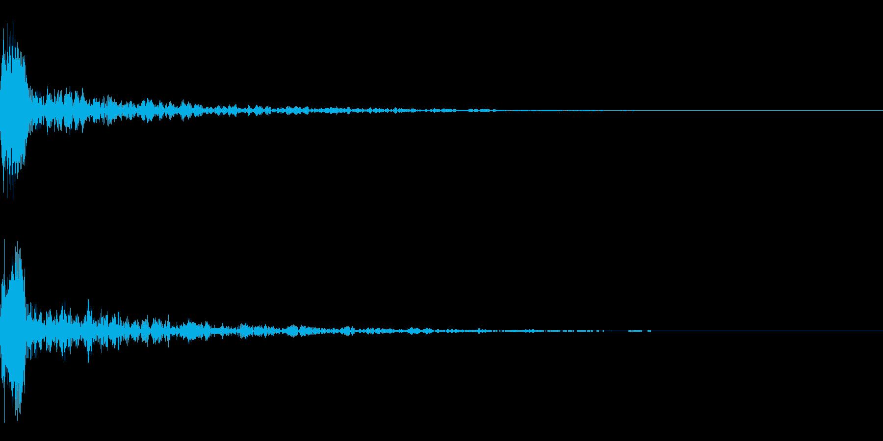 ドーン-17-1(インパクト音)の再生済みの波形