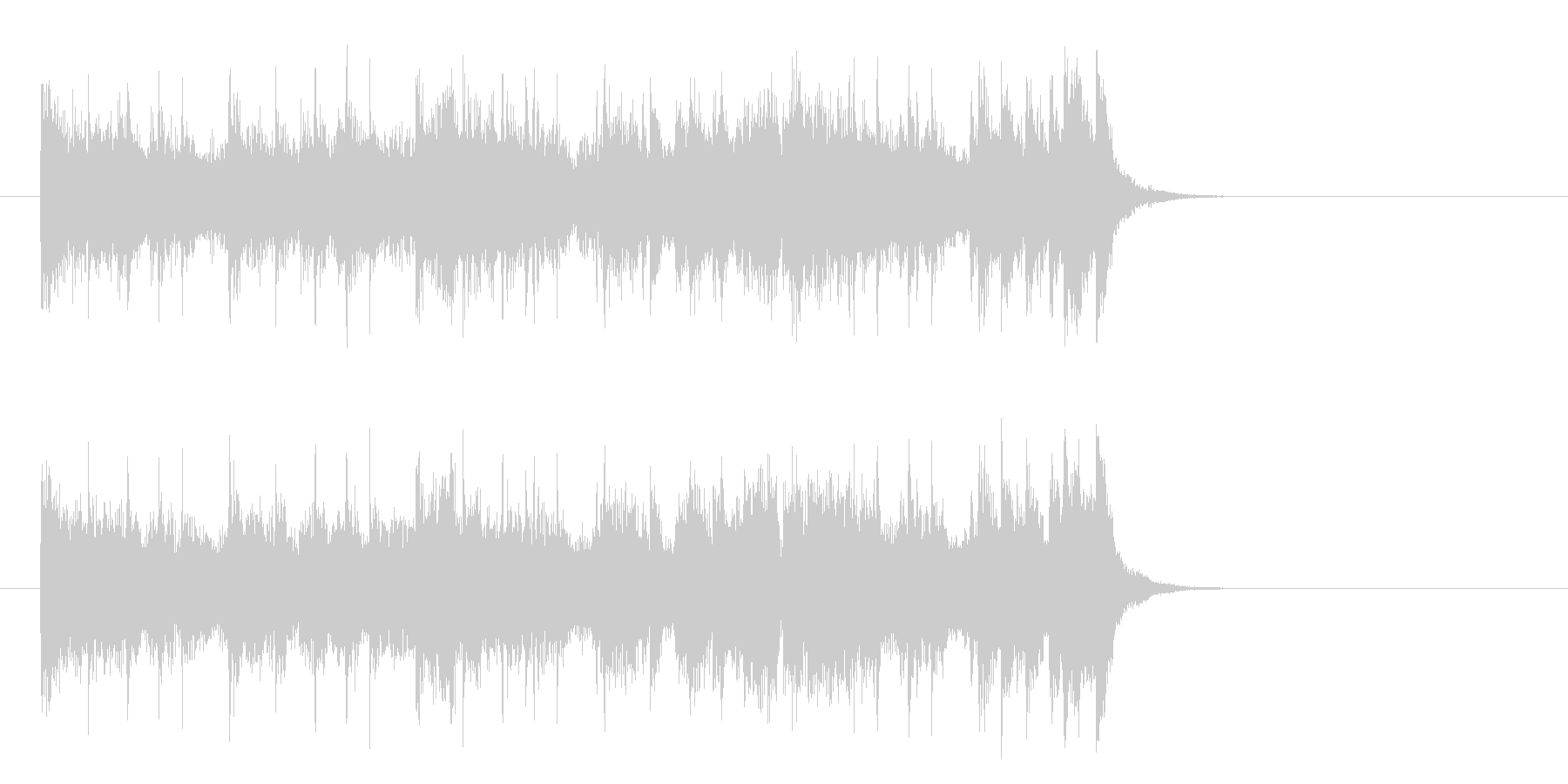 爽快なフュージョンポップ(イントロ)の未再生の波形