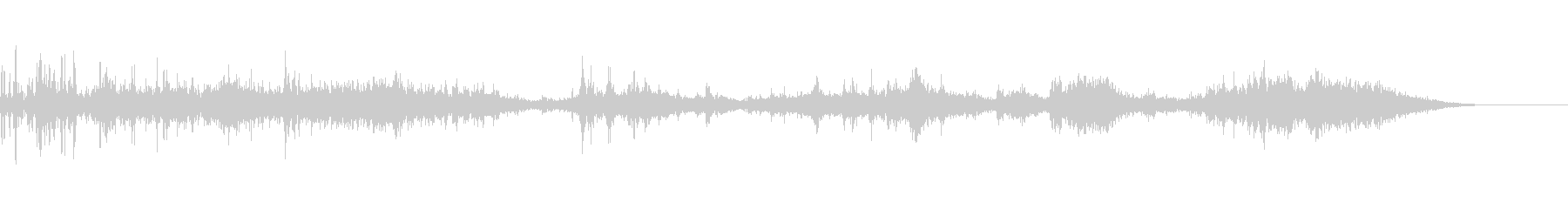 カミナリ(遠雷)-38の未再生の波形
