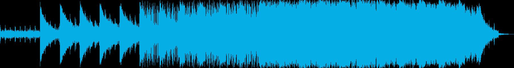 わくわく 宇宙 感動 ローファイテクノの再生済みの波形