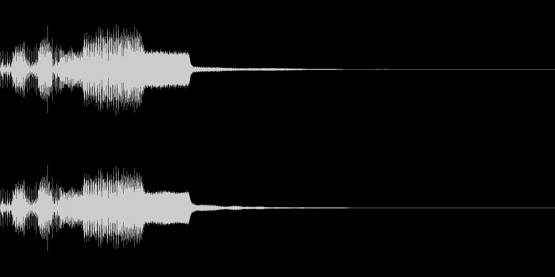 ピコンッ(ファミコン風決定音)の未再生の波形