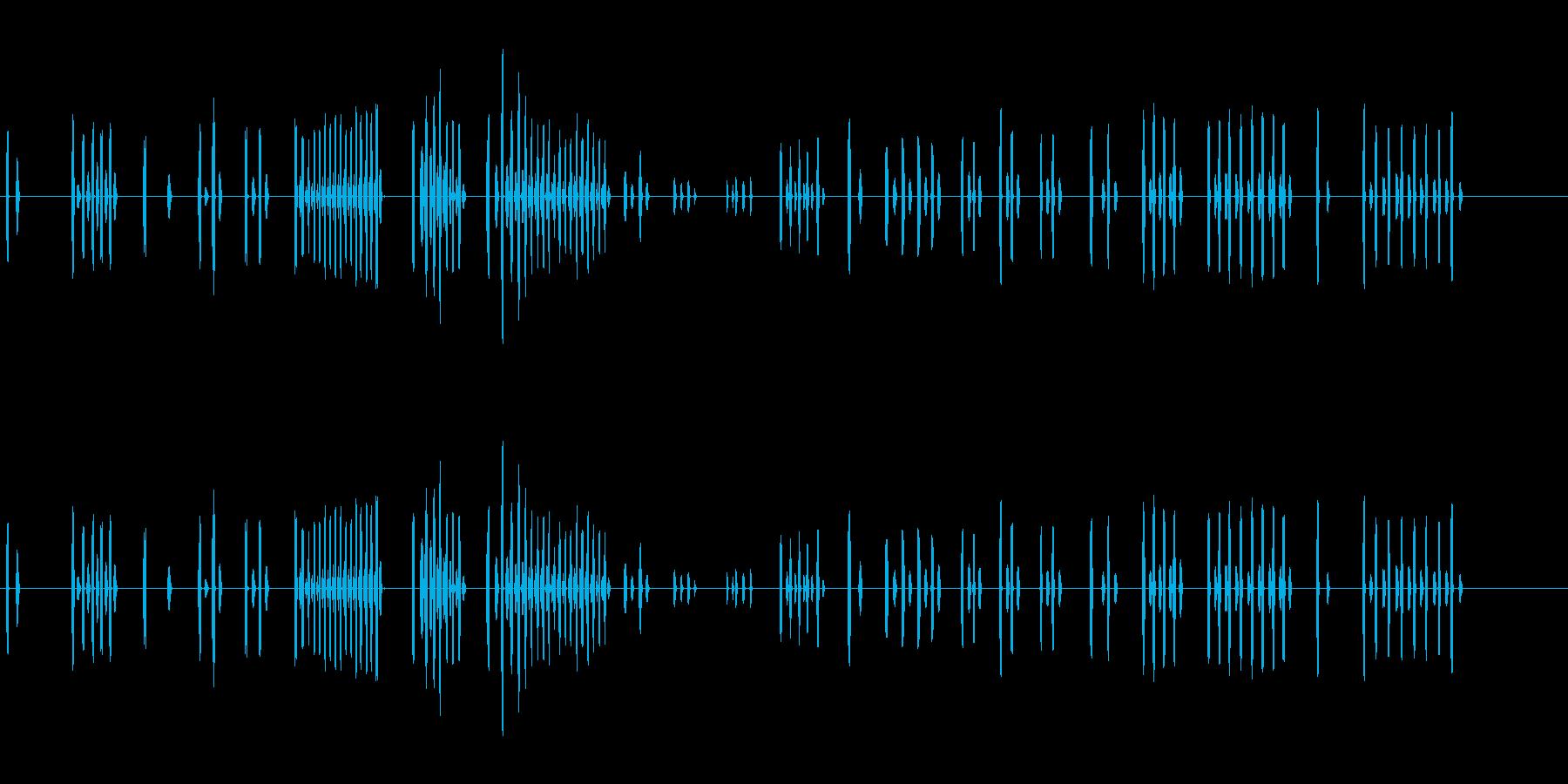ぬいぐるみやサンダルなどのキュッキュ音の再生済みの波形