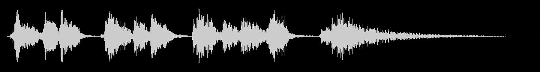 ほのぼのごきげんウクレレ サウンドロゴの未再生の波形