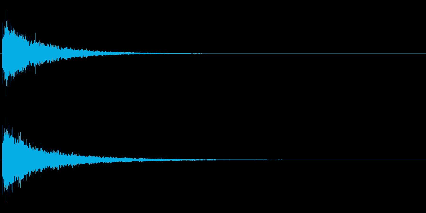 RPGなどの魔法発動(シャラーン)の再生済みの波形