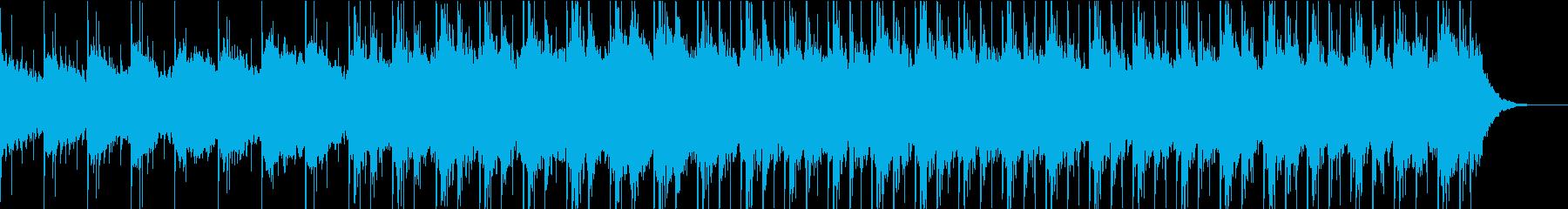 清潔感のあるストリングスとピアノの曲の再生済みの波形