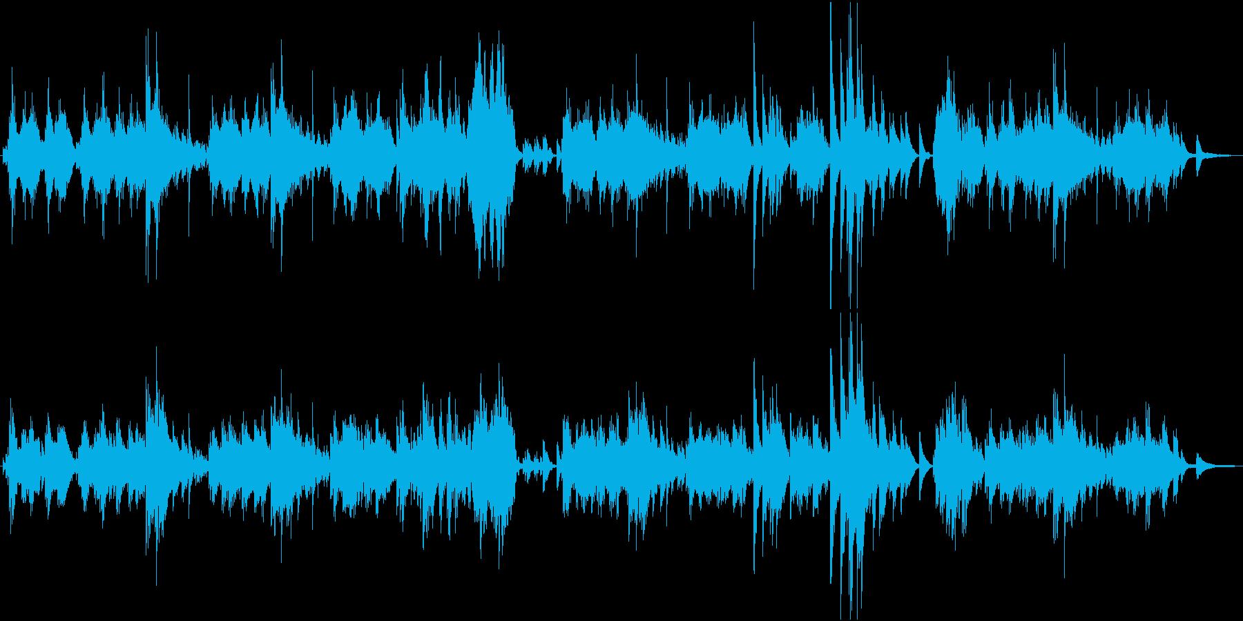 ピアノ「エリーゼのために」カバーの再生済みの波形