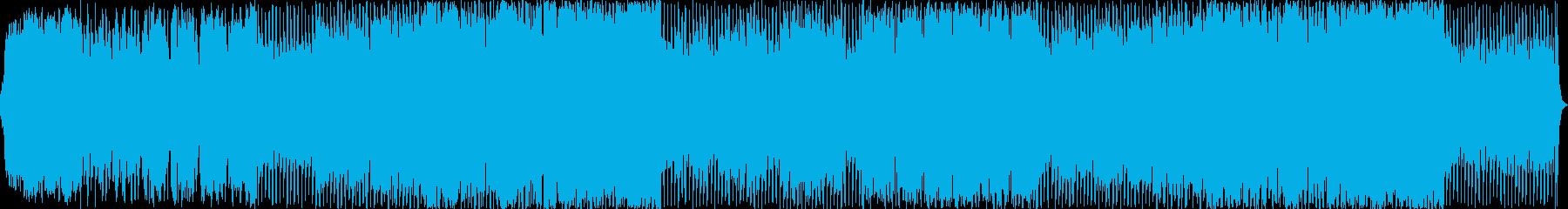 抒情的、神秘的なオーケストラ曲の再生済みの波形