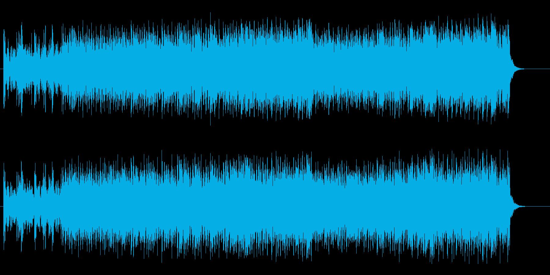 疾走感のあるマイナードライビングロックの再生済みの波形